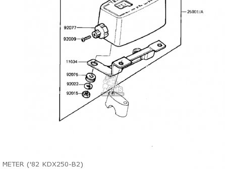 Kawasaki Kdx250 B2 Kdx250 1982 Usa California Canada Parts Lists And
