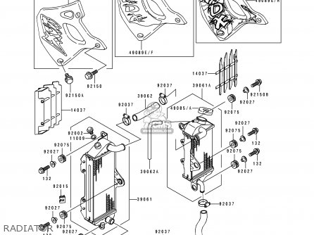 Kawasaki Kdx250 D1 1991 Usa Canada Parts Lists And Schematics