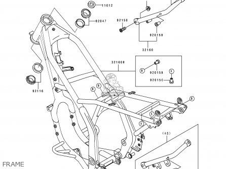 Kawasaki Kdx250 E1 1991 Europe Fr Gr As Parts Lists And Schematics