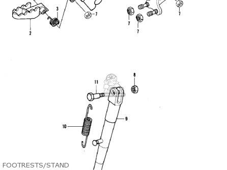 Kawasaki Kdx420-b1 Kdx420 1981 United Kingdom Usa California Export Footrests stand