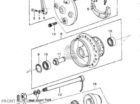 Kawasaki Kdx420-b1 Kdx420 1981 United Kingdom Usa California Export Front Hub brake