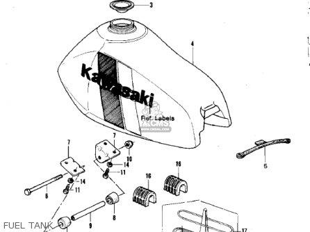 Kawasaki Kdx420-b1 Kdx420 1981 United Kingdom Usa California Export Fuel Tank