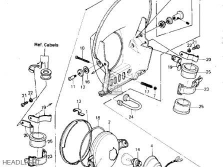 Kawasaki Kdx420-b1 Kdx420 1981 United Kingdom Usa California Export Headlight