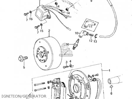Kawasaki Kdx420-b1 Kdx420 1981 United Kingdom Usa California Export Ignition generator