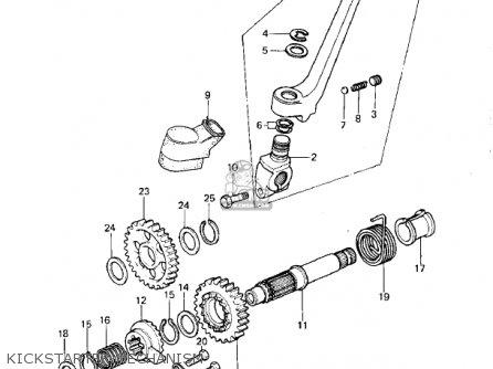Kawasaki Kdx420-b1 Kdx420 1981 United Kingdom Usa California Export Kickstarter Mechanism