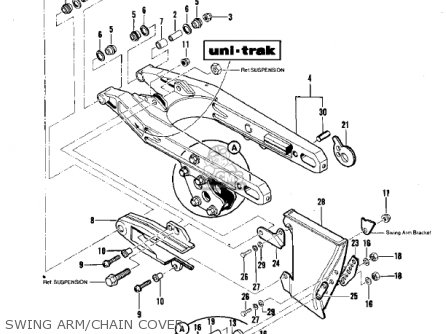 Kawasaki Kdx420-b1 Kdx420 1981 United Kingdom Usa California Export Swing Arm chain Cover