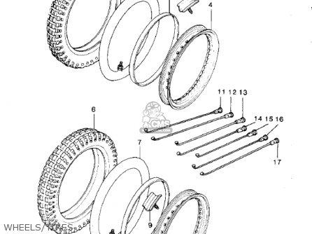 Kawasaki Kdx420-b1 Kdx420 1981 United Kingdom Usa California Export Wheels tires