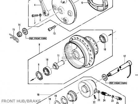 Kawasaki Kdx450-a1 Kdx450 1982 United Kingdom Usa California Export Front Hub brake