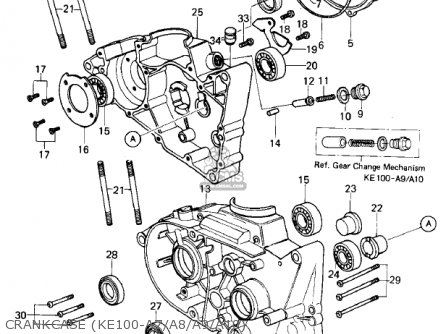 Kawasaki Ke100 A5 Ke100 1976 Canada Parts Lists And Schematics