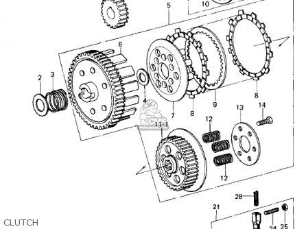 Kawasaki Ke100 A9 Ke100 1980 Canada Parts Lists And Schematics