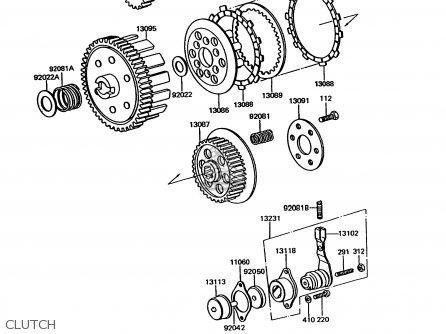 Kawasaki Ke100 B14 1995 Usa Canada Parts Lists And Schematics