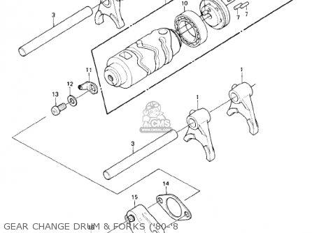 Kawasaki Ke175 D4 Ke175 1982 Usa Canada Parts Lists And Schematics