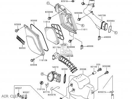 Kawasaki Kef300 A2 Lakota300 1996 Usa Parts Lists And Schematics