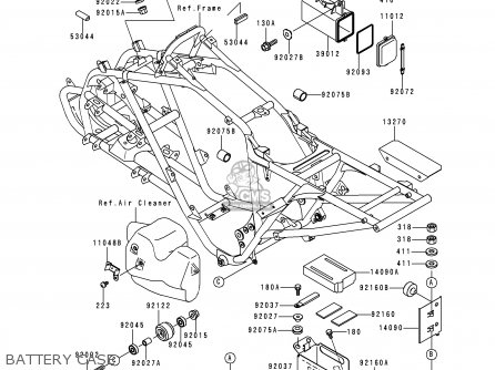 Delco Radio Wiring Model For Power And Connection 16131345 Speakers furthermore Polaris Sportsman 400 Solenoid Wiring Diagram together with 315131 85 Bayou 185 Wiring likewise Kawasaki Atv Engine Diagram together with 09 Brute Force 750 Wiring Diagram. on kawasaki lakota atv wiring diagram