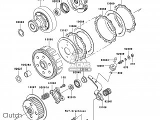 chassis electrical equipment � kawasaki kef300-b3 lakota sport 2003 usa  clutch  clutch