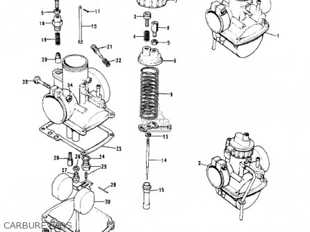 Kawasaki Kh250a5 1976 Canada Carburetors