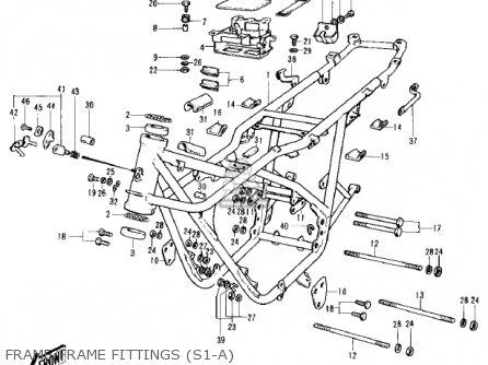Kawasaki Kh250a5 1976 Canada Frame frame Fittings s1-a
