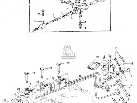 Kawasaki Kh250a5 1976 Canada Oil Pump