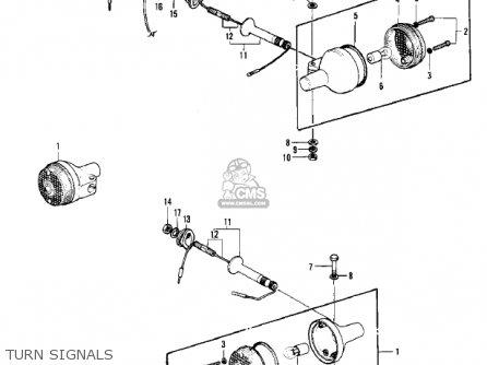Kawasaki Kh250a5 1976 Canada Turn Signals