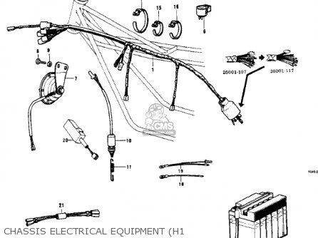 Kawasaki Kh500a8 1976 Canada Chassis Electrical Equipment h1