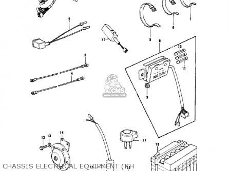 Kawasaki Kh500a8 1976 Canada Chassis Electrical Equipment kh