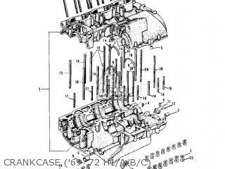 Kawasaki Kh500a8 1976 Canada Crankcase 69-72 H1 a b c