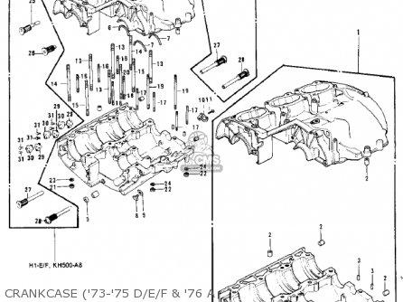 Kawasaki Kh500a8 1976 Canada Crankcase 73-75 D e f  76 A