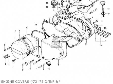 Kawasaki Kh500a8 1976 Canada Engine Covers 73-75 D e f