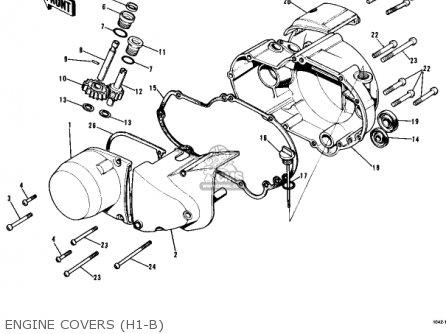 Kawasaki Kh500a8 1976 Canada Engine Covers h1-b