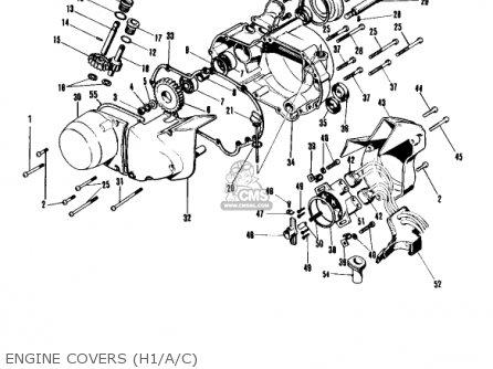 Kawasaki Kh500a8 1976 Canada Engine Covers h1 a c