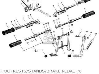 Kawasaki Kh500a8 1976 Canada Footrests stands brake Pedal 6