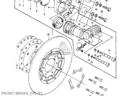 Kawasaki Kh500a8 1976 Canada Front Brake h1-b