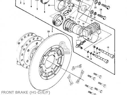 Kawasaki Kh500a8 1976 Canada Front Brake h1-d e f