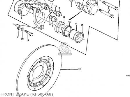 Kawasaki Kh500a8 1976 Canada Front Brake kh500-a8