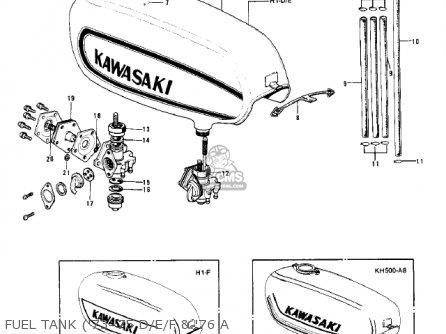 Kawasaki Kh500a8 1976 Canada Fuel Tank 73-75 D e f  76 A