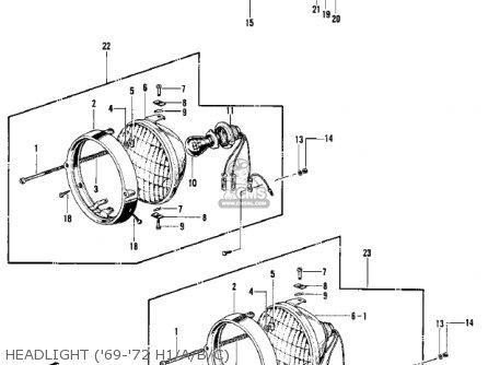 Kawasaki Kh500a8 1976 Canada Headlight 69-72 H1 a b c