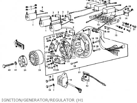 Kawasaki Kh500a8 1976 Canada Ignition generator regulator h1