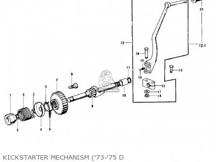 Kawasaki Kh500a8 1976 Canada Kickstarter Mechanism 73-75 D