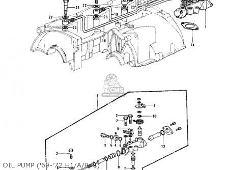 Kawasaki Kh500a8 1976 Canada Oil Pump 69-72 H1 a b c