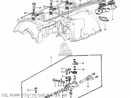 Kawasaki Kh500a8 1976 Canada Oil Pump 73-75 D e f  76 A8