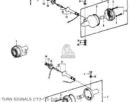 Kawasaki Kh500a8 1976 Canada Turn Signals 73-75 D e f  7