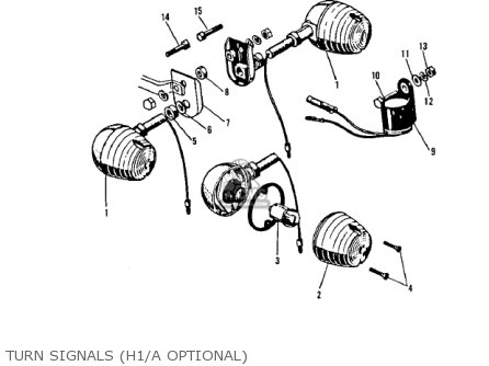 Kawasaki Kh500a8 1976 Canada Turn Signals h1 a Optional