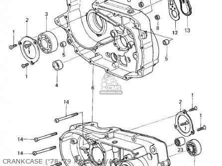 Kawasaki Kl250a2 Klr250 1979 Canada Crankcase 78-79 Kl250-a1 a1a