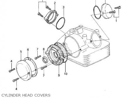 Kawasaki Kl250a2 Klr250 1979 Canada Cylinder Head Covers