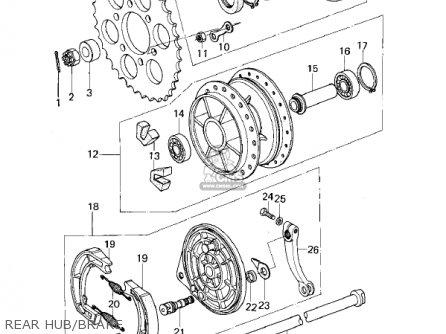 Kawasaki Kl250a2 Klr250 1979 Canada Rear Hub brake