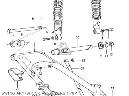 Kawasaki Kl250a2 Klr250 1979 Canada Swing Arm shock Absorbers 78-