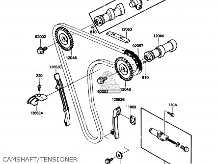 Kawasaki Kl650-a3 Klr650 1989 Usa California Canada Camshaft tensioner