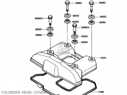 Kawasaki Kl650-a3 Klr650 1989 Usa California Canada Cylinder Head Cover