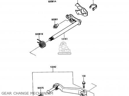Kawasaki Kl650-a3 Klr650 1989 Usa California Canada Gear Change Mechanism
