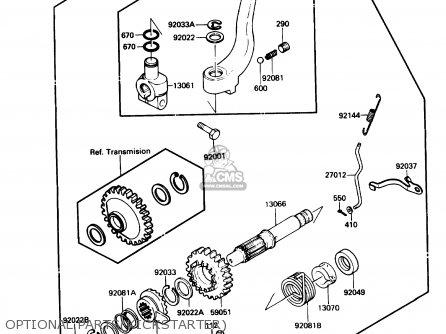 Kawasaki Kl650-a3 Klr650 1989 Usa California Canada Optional Partskickstarter